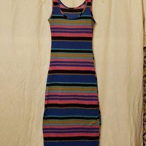 Maxi colorful striped dress